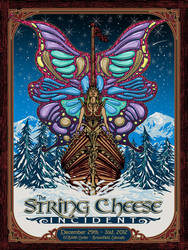 String Cheese Incident NYE 2012 Poster by fensterer