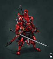 Mech Deadpool - Trisword by cjcenteno