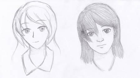 Cartoon/Manga vs Realism by Sketching-Artist