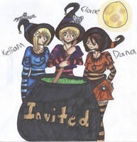 Halloween Witches by ninja-in-grey