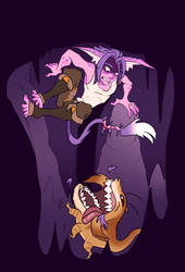 Between a Rock and a really hungry Chompacabra. by Aelith-Earfalas