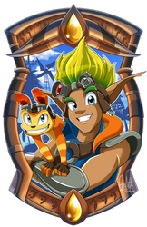 Jak and Daxter Keychain Design by Aelith-Earfalas