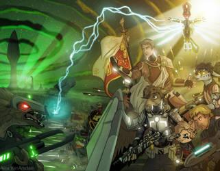 Battle of the Homeworld by AlexVanArsdale