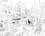 Foxes vs Rygols battle by AlexVanArsdale