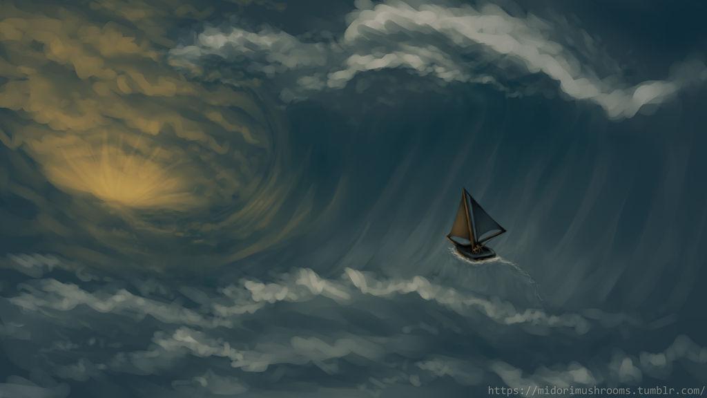 Riding the Wave by KazeSkyfox
