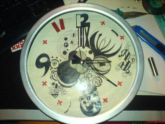Hand-made Clock by anarchisthippy