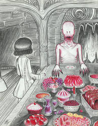 morDF draws (21) the pale man's dinner by Freak-a-lot