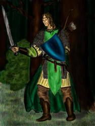 Kaldir as a Ranger by MirachRavaia