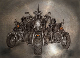 The Black Riders by MirachRavaia