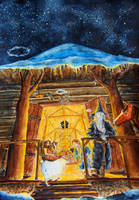 Yule-tide in Beorn's house by MirachRavaia
