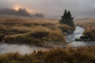 Misty sunrise by MirachRavaia