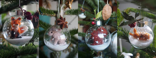 Christmas animals by MirachRavaia
