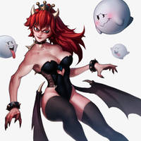 Halloween Bowsette by Bokkimi