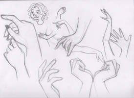 Let's Draw... Hands! Sketch Batch 1 by ashesto