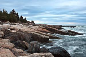 Ocean Point Rocky Shore by EvaMcDermott