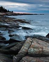 Cloudy Sunrise Ocean Point by EvaMcDermott