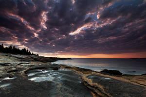 Cloudy Sunrise by EvaMcDermott