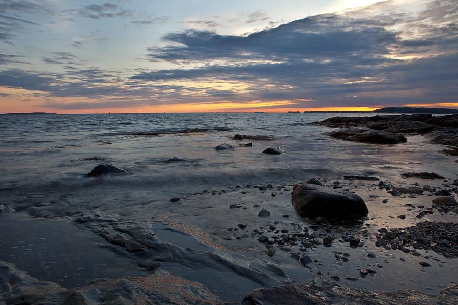 Sunset Ocean Point by EvaMcDermott