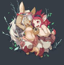 Nanachi and Mitty by Visark
