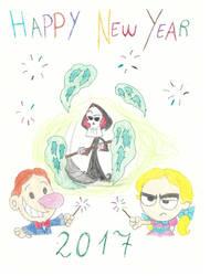 Happy New Year 2017 by Begonia123