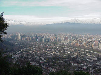 Above Santiago by nwinder