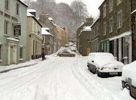 Snowy Street by nwinder
