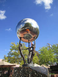Silver Ball Sculpture 1 by chamberstock