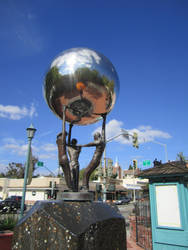Silver Ball Sculpture 3 by chamberstock