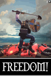 TF2 Poster - FREEDOM by trevmun