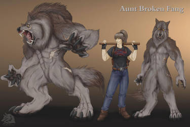 Silver and Bone - Aunt Broken Fang by QuebecoisWolf