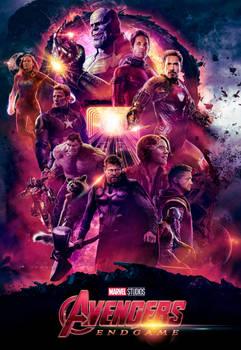 Avengers Endgame Poster By Ralfmef Captain Marvel