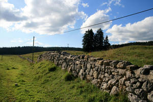 stone fence 01. by greenleaf-stock
