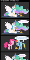 Silly Celestia by FlufflePuff622