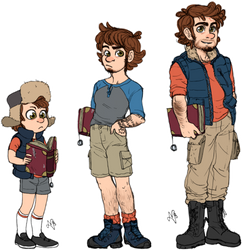 Dipper Glowup by kerenitychan