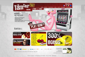 TamTam Casino Homepage design by mangion