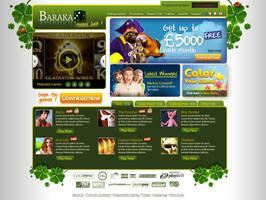 Casino homepage design mockup by mangion