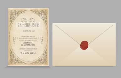 Wedding Invitation Design by mangion