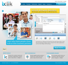bclik landing page by mangion