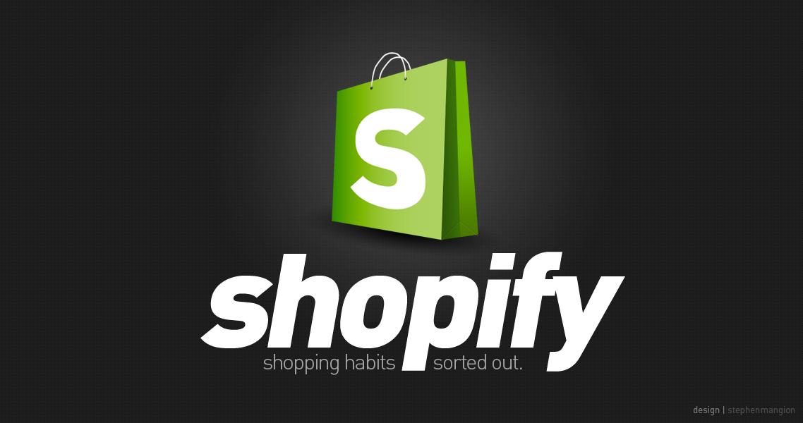 Shopify logo artwork by mangion