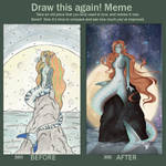 Shark Mermaid redraw meme by RuuRuu-Chan