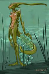 Aquatic Monster Girl by mutleyjames