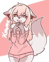 little pink fox by RinnieKuu