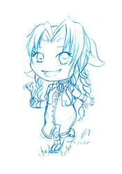 Chibi-Aerith [Sketch] by AkaiYuyake