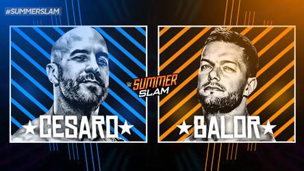 WWE SUMMERSLAM CUSTOM MATCH CARD by VICTORHBK