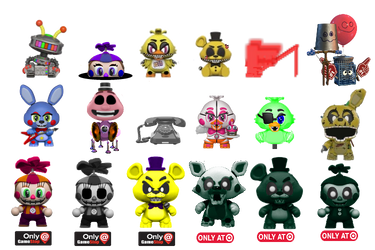 My idea for Wave 7 of FNAF Mystery Minis by MCAboyan
