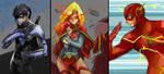 DC heroes by SiruBoom