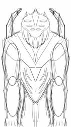 Black Friday Monster Sketch by Spidernator9