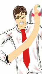 Shinici with Migi Sketch by Spidernator9