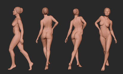 Nude Figure Sculpt by MarcBrunet