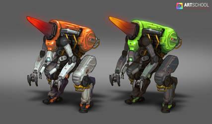 Mining Mech Design by MarcBrunet